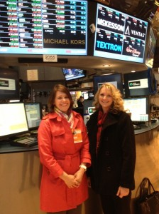 Jane King, from Bloomberg News, hosted Katie Pratt and I on a tour of the New York Stock Exchange.